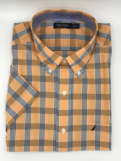 Nautica Big and Tall Wrinkle Resistant Short Sleeve Sport Shirt M54177C