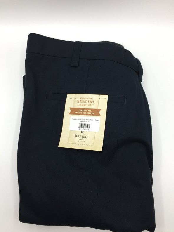 Haggar Adjustable Waist Pant - Navy