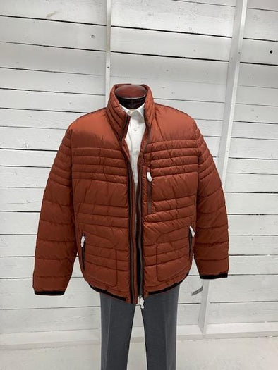 Orange Quilted Cabano Winter Jacket 50 US
