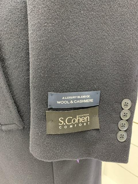 S. Cohen Wool and Cashmere Overcoat 40 S Hamilton 304002