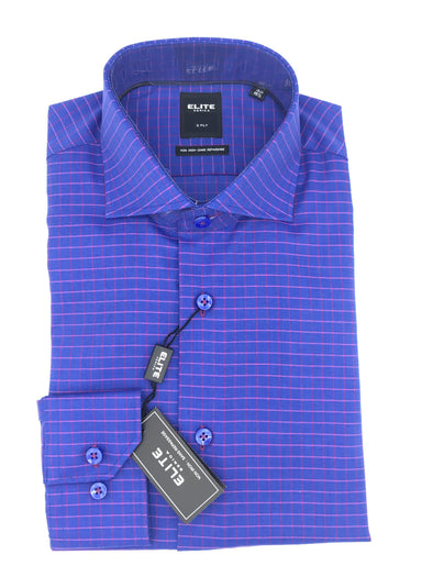 Serica Elite Dress Shirt - Blue Red and Pink E-1755056/15
