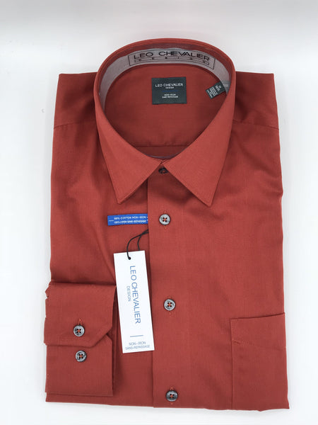 Leo Chevalier Dress Shirt 225121 7599 Rust