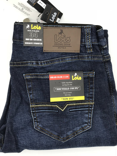 Lois Brad Slim Jean1136-6378 Dark Wash