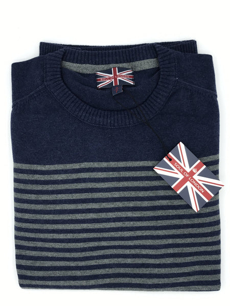 Soul of London Crew Neck Sweater - Stripe SOSW172314