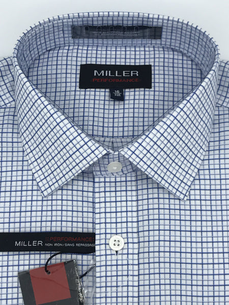Miller Performance Dress Shirt - Blue Check 53886