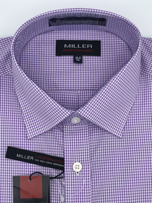 Miller Performance Dress Shirt - Purple 53926