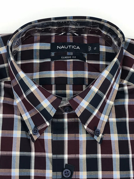 Nautica Big and Tall Sport Shirt Long Sleeve - M73C62