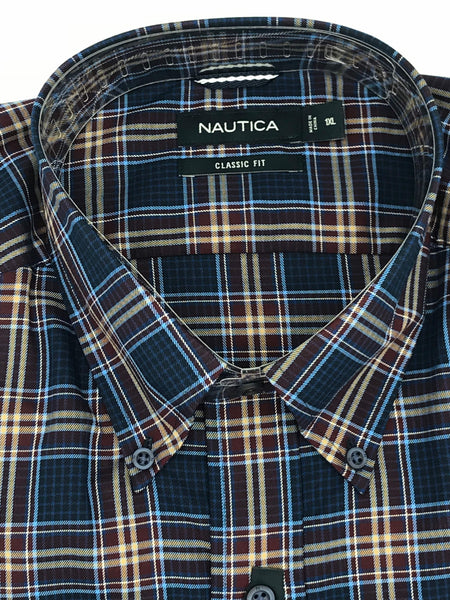 Nautica Big and Tall Sport Shirt Long Sleeve - M73C63