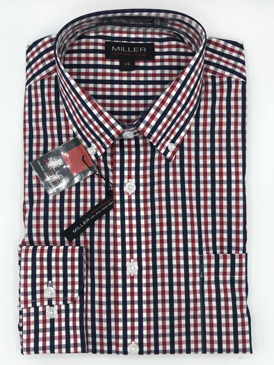Miller Sport Shirt Red and Blue Check - 54472