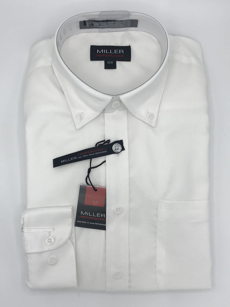 Miller Performance Sport Shirt White - 31732 0100