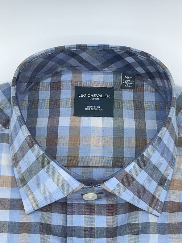 MEDIUM Leo Chevalier Short Sleeve Sport Shirt - 522398 - 1300