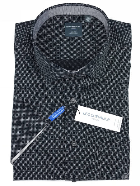 Leo Chevalier Tall Short Sleeve Sport Shirt - 520383/QT 0900
