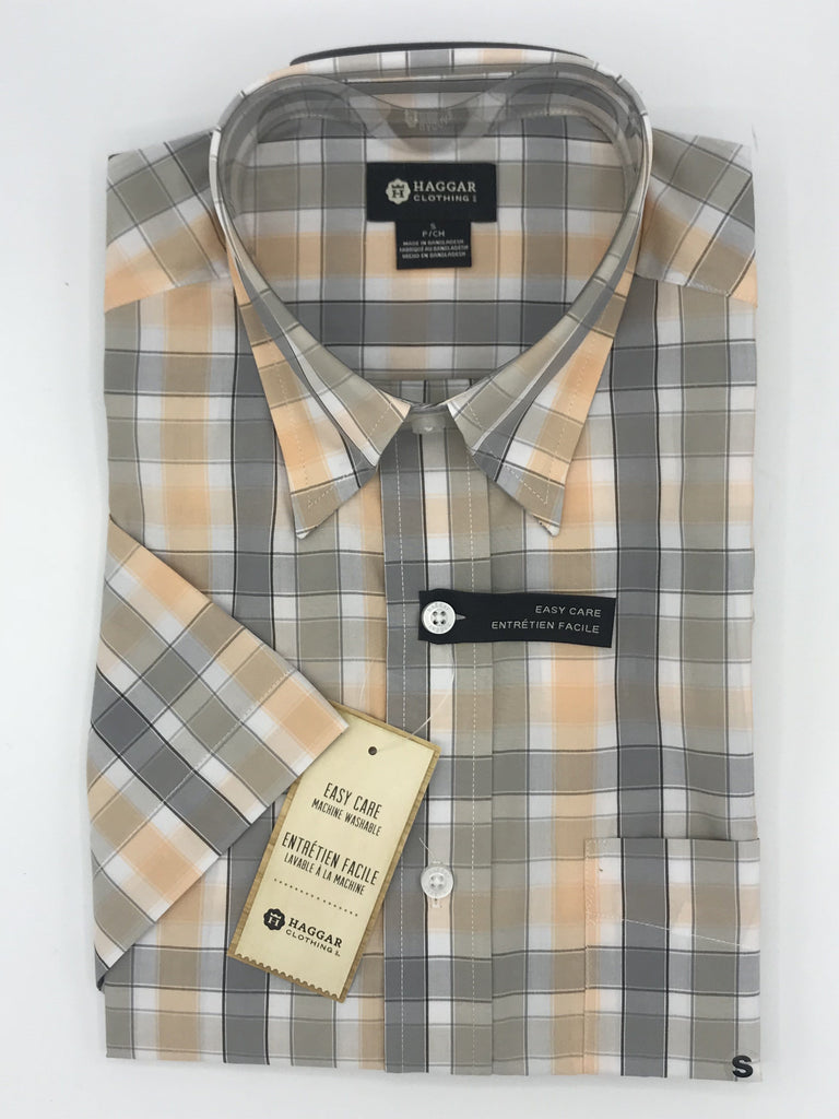 Haggar Short Sleeve Sport Shirts - IWM242 Orange
