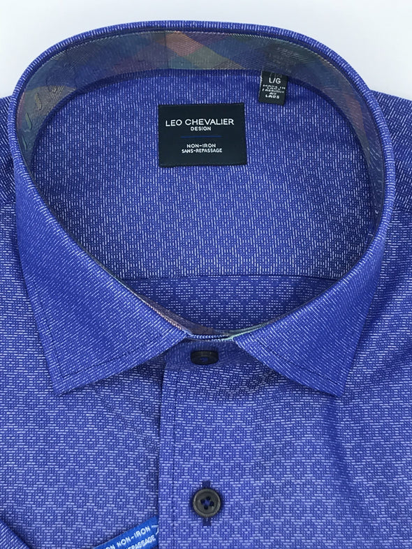 Leo Chevalier Short Sleeve Sport Shirt 520374 1300