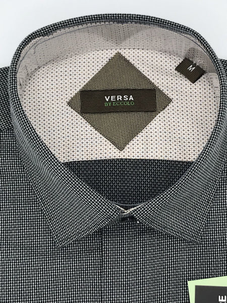 Versa by Eccolo Black Sport Shirt - MR9BC
