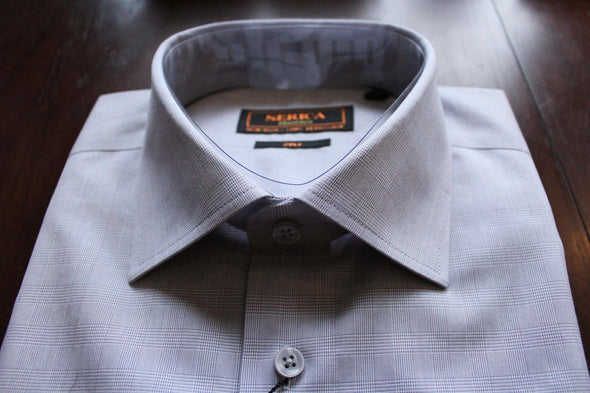 Serica Classics Non-Iron Dress Shirt - Grey Check