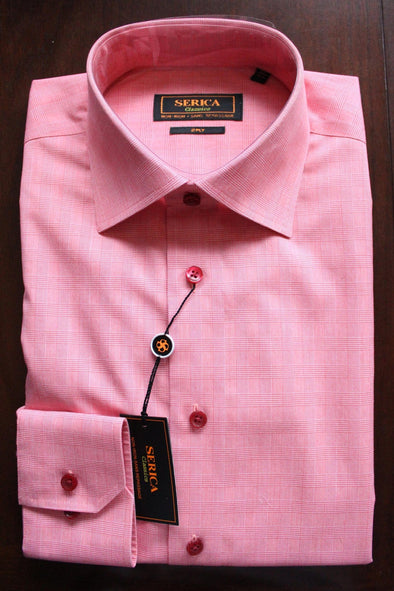 Serica Classics Non-Iron Dress Shirt - Salmon Check