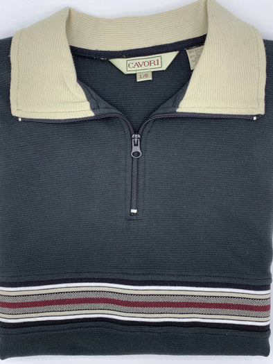 Cavori Mocha Heather Sweater 1/4 Zip - 344532 - 2698