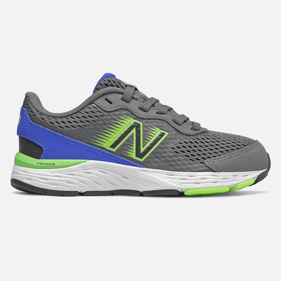 Youth New Balance Bungee Lace Running Shoe - Cobalt Blue/Lime - YP680BD6