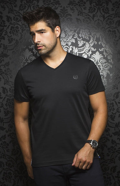 Au Noir Black V-Neck T-Shirt Michael-V