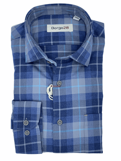 Borgo28 'I'm so Blue' L/S Sport Shirt - BBF9W112 300