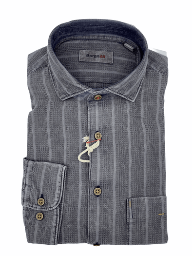Borgo28 'Browned over Charcoal 'L/S Sport Shirt - BBF9W100 010