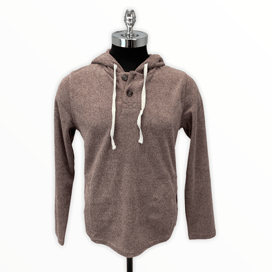 Borgo28 2-button Terry Cloth Hoodie - Wine - BHF9K013 512
