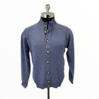 Borgo28 Full-Button Cardigan - Blue - BBF8S486