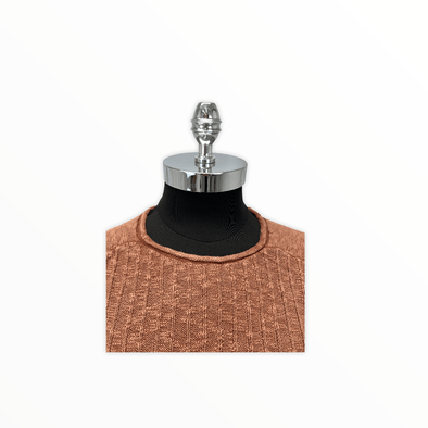 Borgo28 Textured Crew Neck BBF0S313 222 Rust