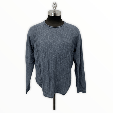 Borgo28 Textured Crew Neck BBF0S313 406 Mid Blue