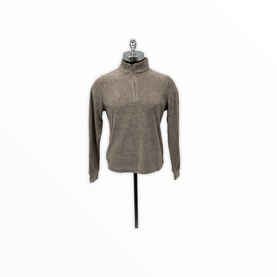 Borgo28 1/4 Zip Terry Sweater - Chocolate - BHF9K012 200