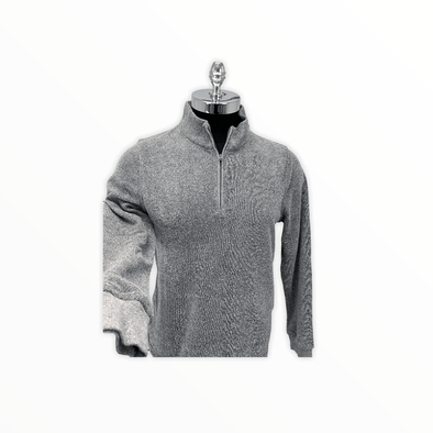 Borgo28 1/4 Zip Terry Sweater - Grey - BHF9K012 031