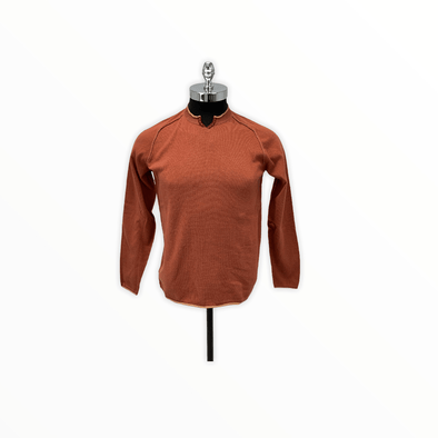 Borgo28 Crew Neck with V-Open Collar - Rust - BHF9S059 222