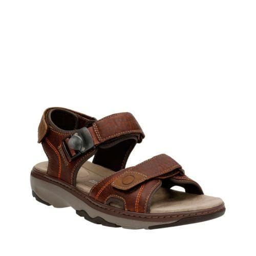 Clarks Sandal Raffe Sun- Brown Leather