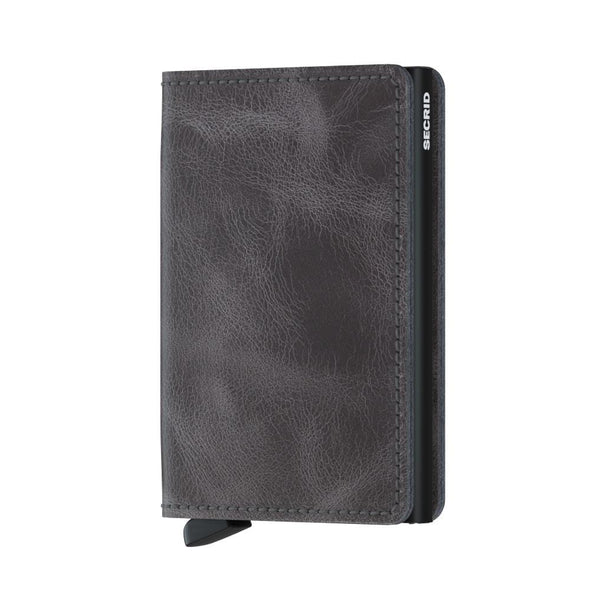 Secrid Slim Wallet - Vintage Grey Black