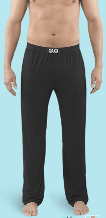 SAXX Sleepwalker Black Lounge Pant - SXLW32