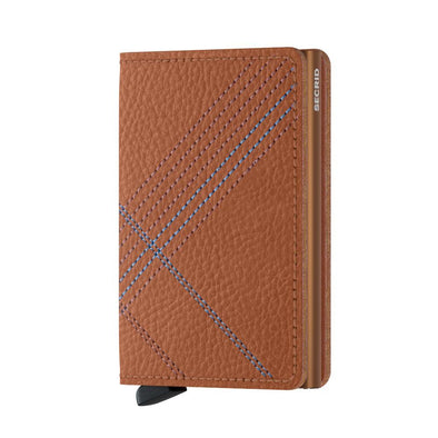 Secrid Slim Wallet - Stitch Linea Caramello