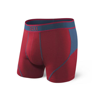 Saxx Kinetic Boxer Brief Deep Red Blue SXBB27-DRB