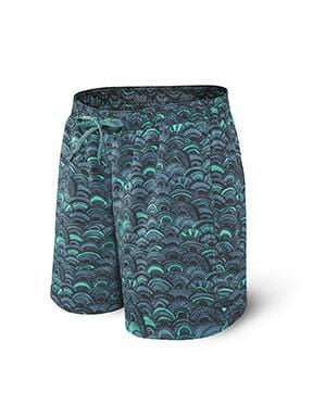 Saxx Cannonball 2n1 Swimwear - SXSS30 - GFF Grey Fish Scales
