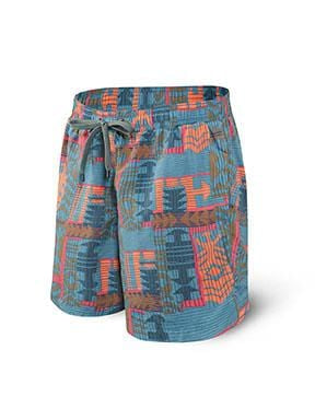 Saxx Cannonball Swimming Trunks 2in1 Regular Grey Patchwork- SXSS30 PWG