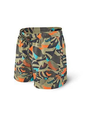 SAXX Cannonball Swim Trunk 2N1 Mud Moss Fish MMF