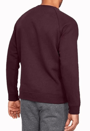 Under Armour Burgundy Rival Crew Neck - 1320738