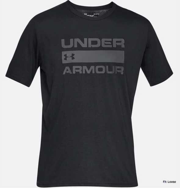 Under Armour UA Team Issue Wordmark SS Black T-shirt 1329582 001