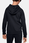 Under Armour AU Rival Logo Hoodie Black and White 1325328 001