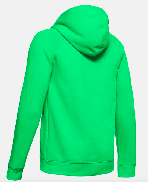 Under Armour Youth AU Rival Logo Hoodie Vapor Green 1325328 299