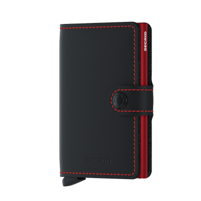 Secrid Mini Wallet-Matte Black-Red