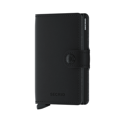 Secrid Soft Touch Vegan Mini Wallet- Black