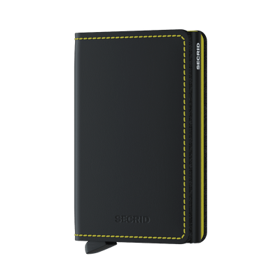 Secrid Slim Wallet - Matte Black & Yellow
