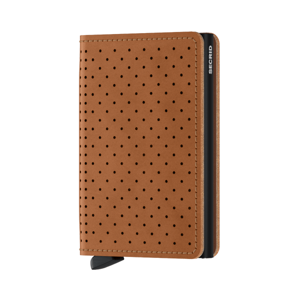 Secrid Slim Wallet -Perforated Cognac