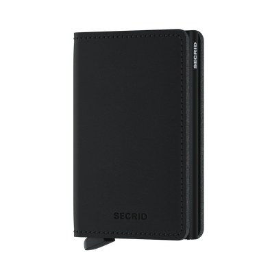 Secrid Soft Touch Vegan Slim Wallet - Black